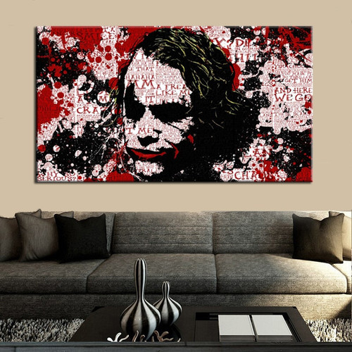 Joker Modern Wall Graffiti Painting Print for Living Room Wall Décor.