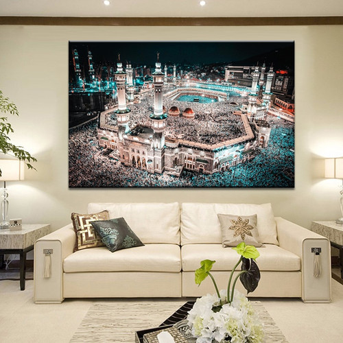 The Great Islamic Mosque Kabba of Mecca Islamic Art Design Home Decor.