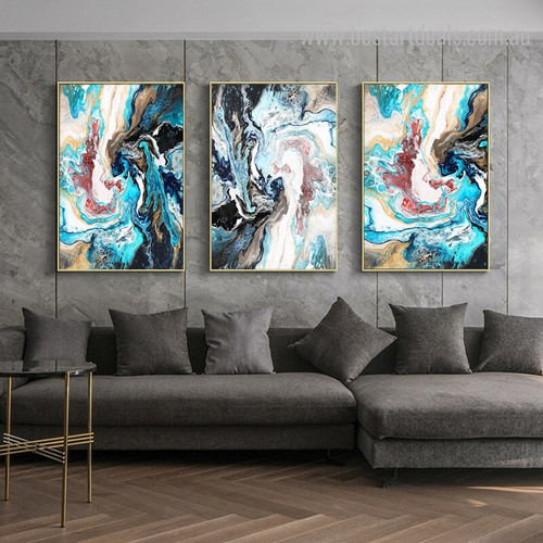 Abstract Dapple Modern Framed Painting Decorative Picture Canvas Print for Room Wall Outfit