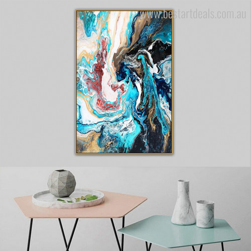 Colorific Abstract Modern Framed Portraiture Photo Canvas Print for Room Wall Flourish