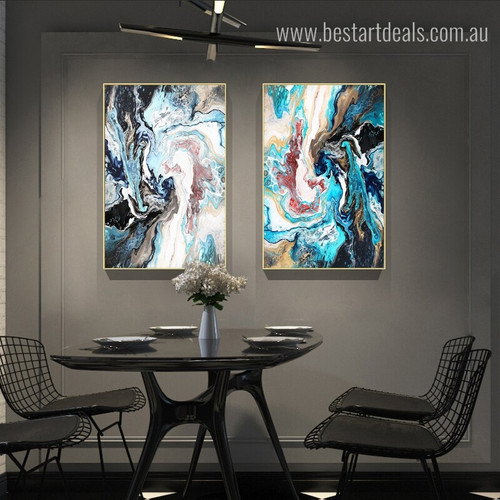 Dark Abstract Modern Framed Resemblance Snapshot Canvas Print for Room Wall Garnish