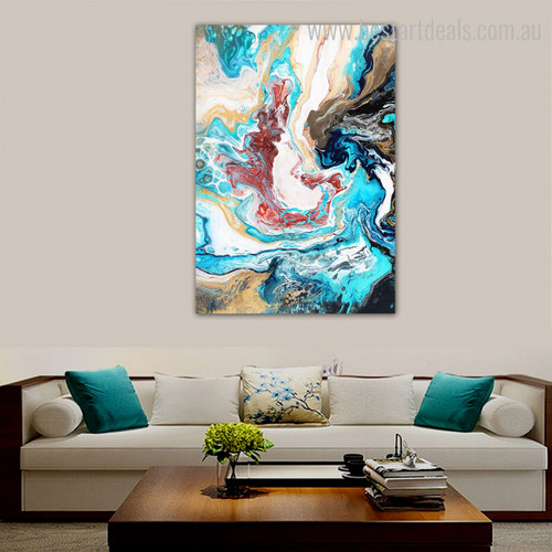 Fusion Abstract Modern Framed Scheme Portrait Canvas Print for Living Room Wall Assortment