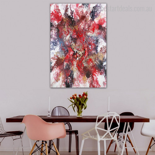Dye Mixing Abstract Modern Framed Effigy Photo Canvas Print for Dining Room Wall Decoration