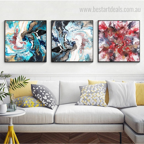 Multicolor Fantasy Abstract Modern Framed Portraiture Image Canvas Print for Room Wall Outfit