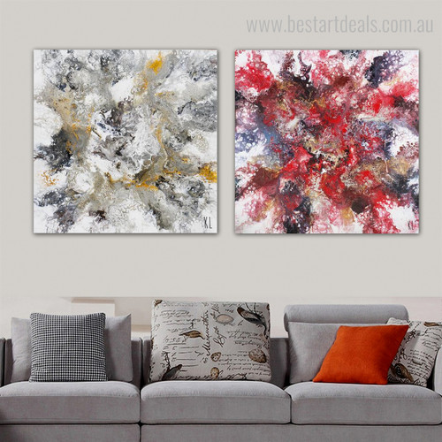 Tinge Medley Abstract Contemporary Framed Painting Photograph Print for Living Room Wall Adornment