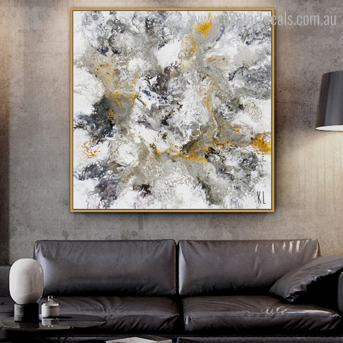 Particolored Abstract Contemporary Framed Painting Picture Canvas Print for Wall Decoration