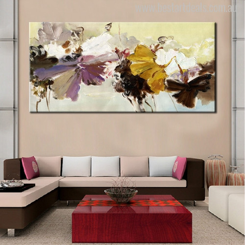 Modern Abstract Flower Bouquet Painting Print for Room Wall Décor.