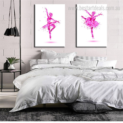 Bayadere Abstract Floral Framed Painting Picture Print for Wall Hanging Decor