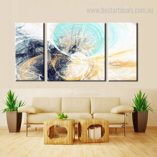 Wind Tunnel Abstract Framed Portmanteau Picture Canvas Print for Wall Onlay
