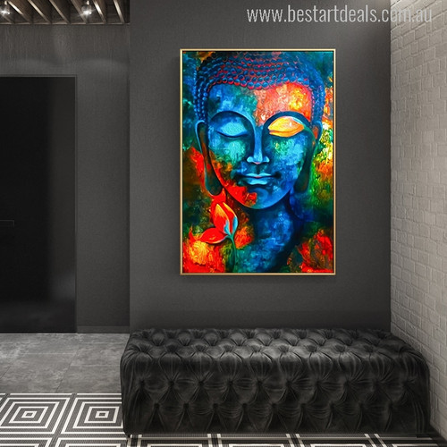 Buddha Picture Print for Room Wall Décor