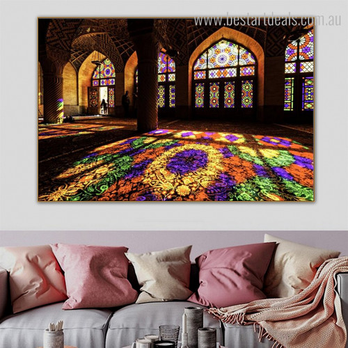 Masjid Indoor Islamic Religion & Spirituality Contemporary Framed Artwork Shot Print for Room Wall Embellishment