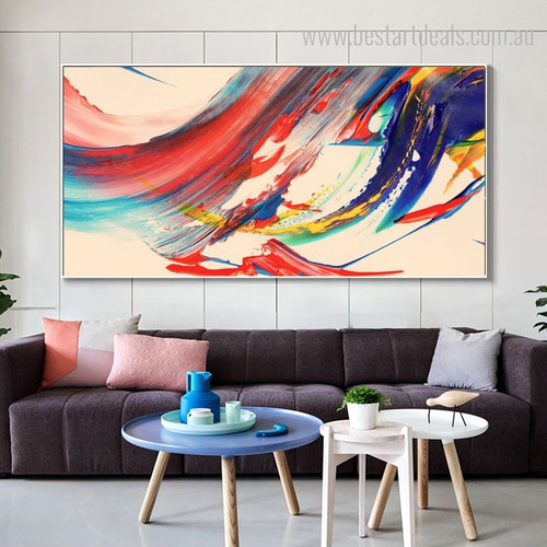 Color Mixer Abstract Contemporary Framed Painting Photo Canvas Print for Living Room Wall Finery