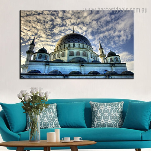 Religious Mosque Modern Framed Portraiture Pic Canvas Print for Room Wall Ornament