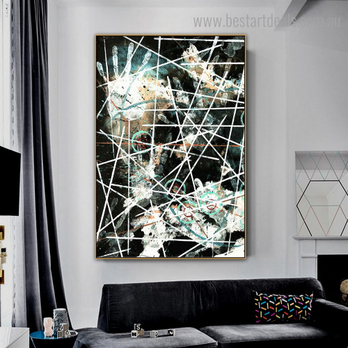 Rules Abstract Modern Framed Painting Picture Canvas Print for Room Wall Outfit
