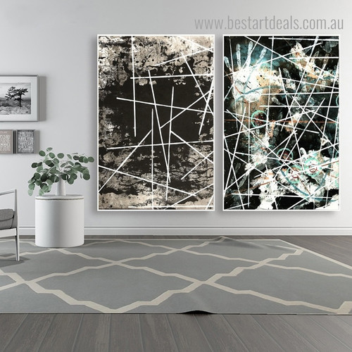 Vinculum Abstract Modern Framed Portrayal Photo Canvas Print for Room Wall Outfit
