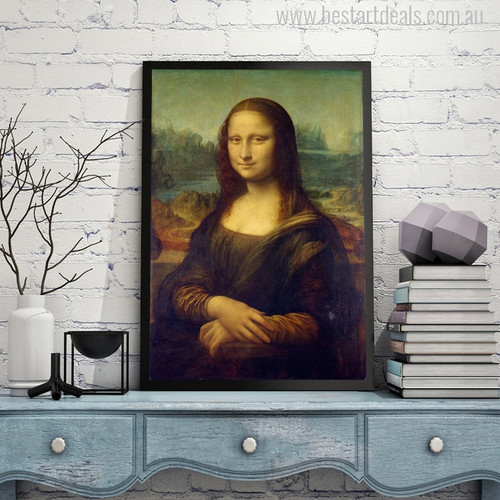 Mona Lisa Painting Print for Study Room Wall Decor
