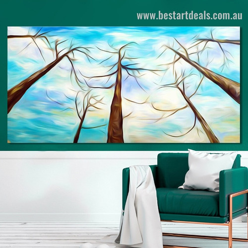 Heaven Arbors Abstract Landscape Contemporary Framed Artwork Picture Canvas Print for Wall Outfit