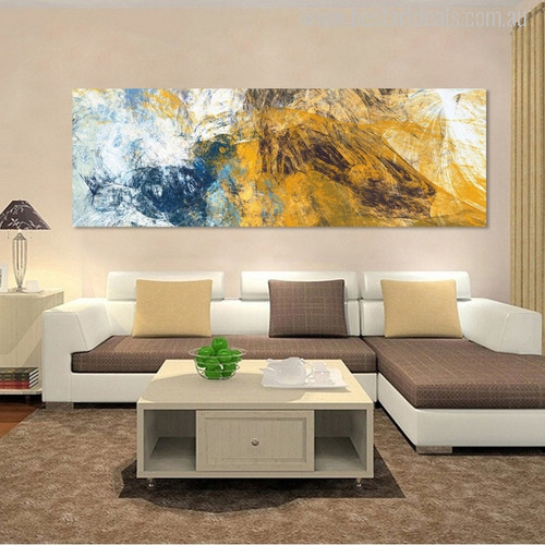 Modern Abstract Painting Canvas Print for Living Room Wall