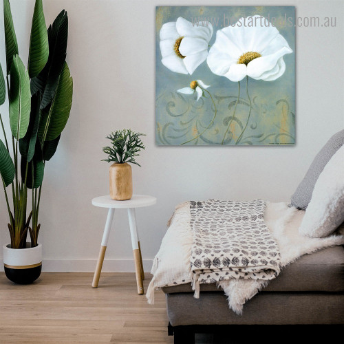 Floral Design Abstract Contemporary Framed Artwork Photograph Canvas Print for Room Wall Getup