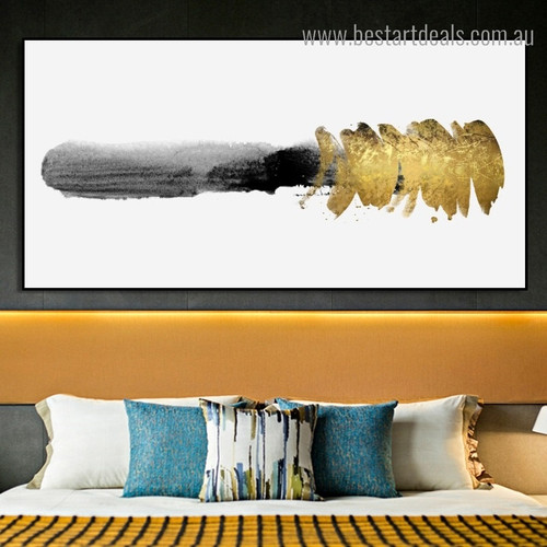 Bold Black Abstract Modern Framed Painting Picture Canvas Print for Room Wall Decor