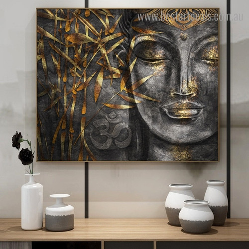Buddhist Mood Abstract Religious Modern Framed Painting Picture Canvas Print for Room Wall Getup