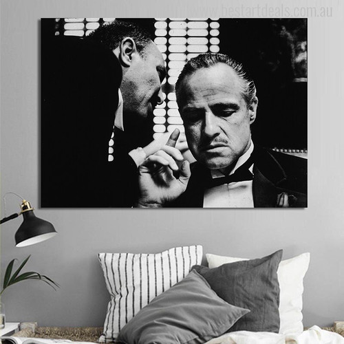 Marlon Brando Picture Canvas Print for Bedroom Wall Picture