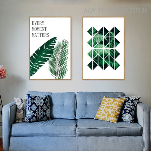 Claytosmunda Botanical Modern Framed Painting Picture Canvas Print for Room Wall Outfit