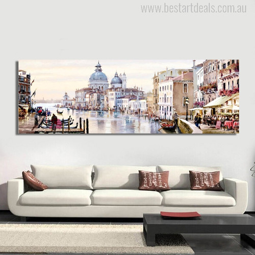 Richard Macneil Painting Venice End of Day Print for Living Room Wall Decor