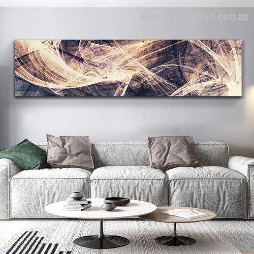 Colored Strokes Large Abstract Modern Framed Painting Pic Canvas Print for Room Wall Finery