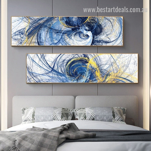 Curved Wrinkles Large Abstract Modern Framed Painting Pic Canvas Print for Room Wall Ornament