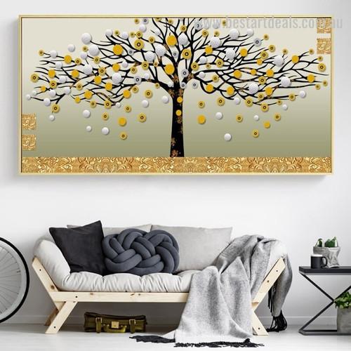 Swirl Flower Abstract Botanical Modern Framed Heavy Texture Handmade Artwork Photo Canvas Print for Room Wall Disposition