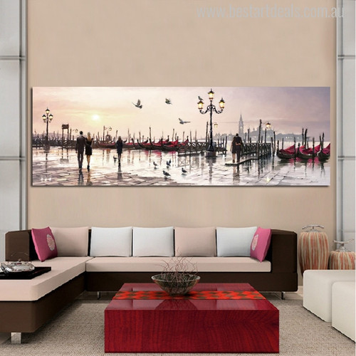 Richard Macneil Painting Piazza San Marco Print for Wall Decor
