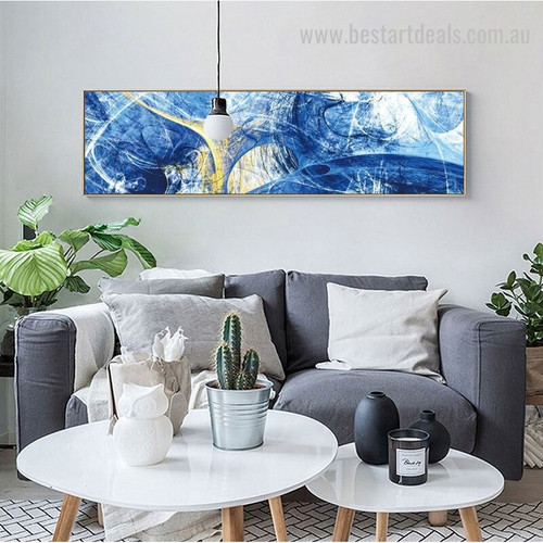 Particoloured Streaks Abstract Modern Panoramic Portrayal Picture Canvas Print for Room Wall Disposition