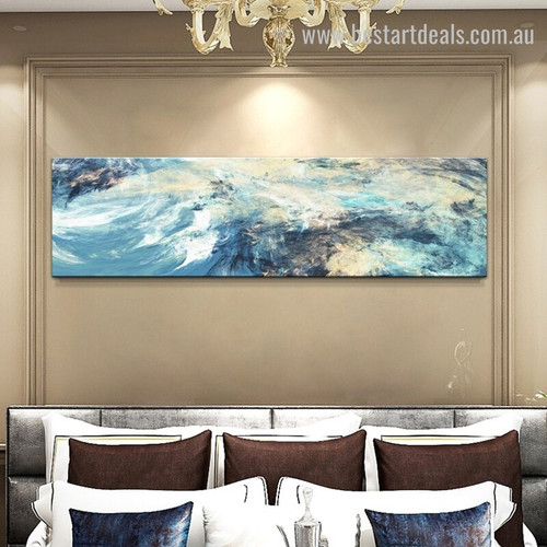 Shot Artwork Abstract Modern Panoramic Painting Photo Canvas Print for Room Wall Decoration