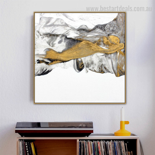 Crest Abstract Landscape Modern Framed Artwork Photo Canvas Print for Room Wall Decor
