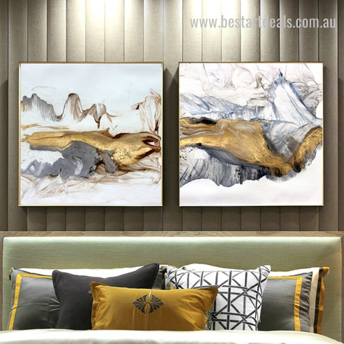 Abstract Hills Modern Framed Painting Photo Canvas Print for Room Wall Outfit