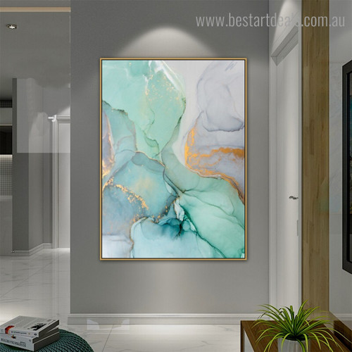 Marble Texture Abstract Modern Framed Painting Picture Canvas Print for Room Wall Adornment