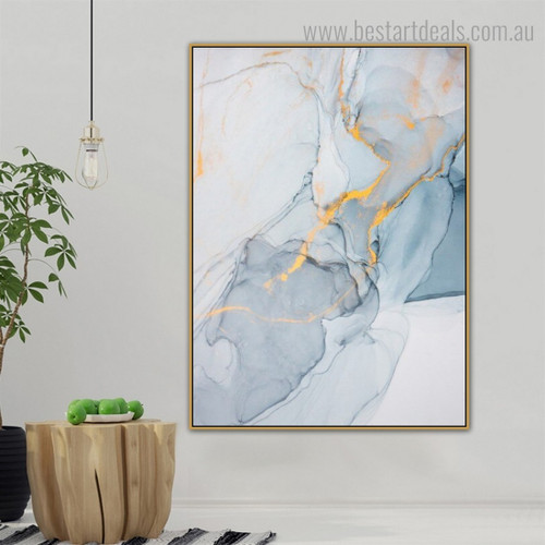 Gorgeous Marble Framed Modern Abstract Art Print for Wall Hanging Decor
