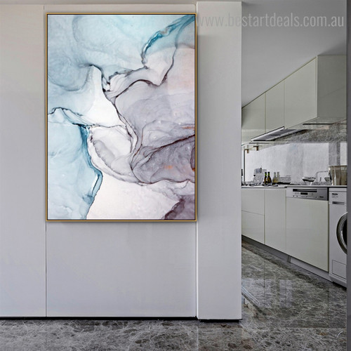 Portly Marble Modern Framed Abstract Art Photo Print for Room Wall Assortment