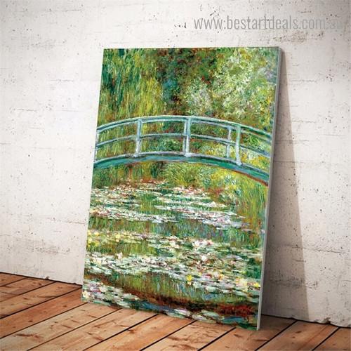 Water Lily Pond Oscar Claude Monet Impressionist Artwork Portrait Canvas Print for Room Wall Decor
