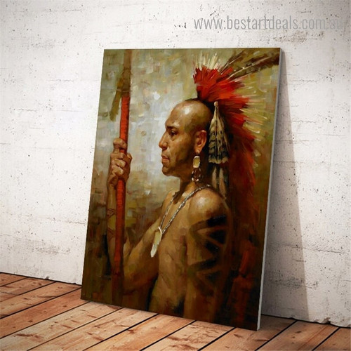 Street Tribe Abstract Figure Framed Painting Picture Canvas Print for Room Wall Outfit