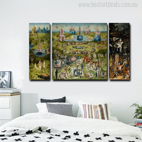 The Garden of Earthly Delights Painting Print for Bedroom Wall Decor