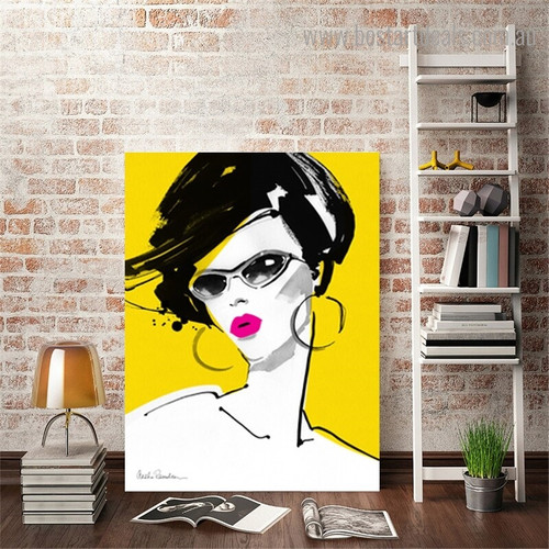 Half Hair Abstract Modern Framed Artwork Pic Canvas Print for Room Wall Drape
