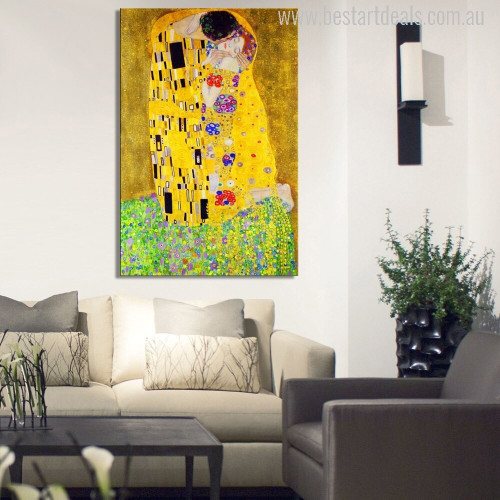 The Kiss Modern Painting Print for Living Room Ideas.