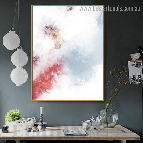 Colorful Smoke Abstract Modern Framed Portrayal Picture Canvas Print for Room Wall Ornament