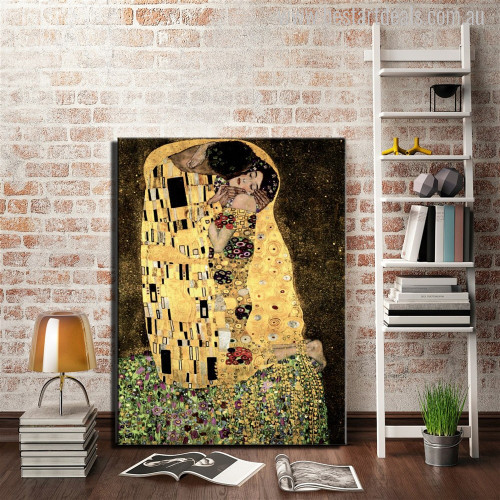 A Kiss Modern Painting Print Study Room Wall Decor