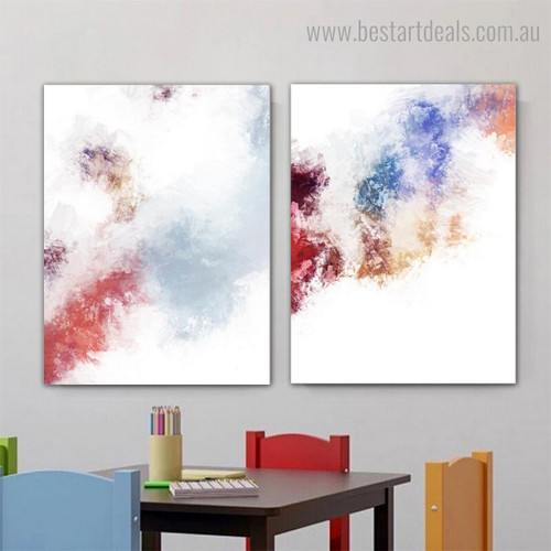 Varicolored Texture Abstract Modern Framed Portrayal Picture Canvas Print for Room Wall Assortment