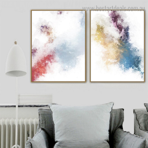 Calico Texture Abstract Modern Framed Portrayal Picture Canvas Print for Room Wall Assortment