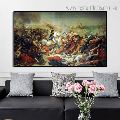 Battle of Abukir Antoine Jean Gros Reproduction Framed Portraiture Image Canvas Print for Room Wall Getup