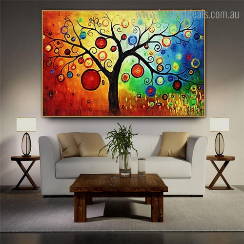 Colorific Fruits Abstract Botanical Modern Framed Artwork Pic Canvas Print for Wall Hanging Decor